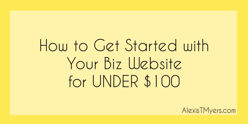 [Video] How to Get Started with Your Biz Website for UNDER $100 (FB Live Video Replay)
